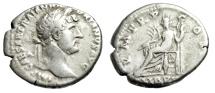 """Ancient Coins - Hadrian AR Denarius """"LIB PVB Libertas Seated"""" Rome 119-122 AD RIC 127a"""