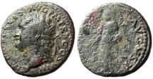 "Ancient Coins - Titus AE As ""PAX AVGVSTI Pax"" Rome RIC 230 Attractive Portrait"