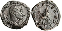 "Ancient Coins - Philip I AE Sestertius ""Emperor Seated"" Rome 245 AD RIC 148a"