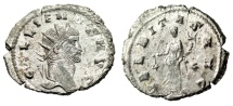 "Ancient Coins - Gallienus Silvered Antoninianus ""VBERITAS AVG Uberitas"" Rome Good VF"