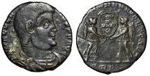 """Ancient Coins - Magnentius AE Centenionalis """"Two Victories, VOT V MVLT X"""" Trier RIC 312 nVF"""