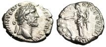 "Ancient Coins - Antoninus Pius Silver Denarius ""FORTVNA OBSEQVENS COS IIII Fortuna"" VF Scarce"