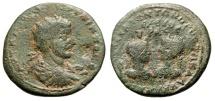 "Ancient Coins - Philip I 37mm ""Confronted Busts of Artemis & Apollo"" Cilicia Seleucia Calycadnum"