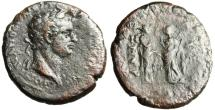 "Ancient Coins - Domitian AE27 ""Two Nemeses"" Ionia Smyrna Rare"