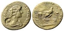 "Ancient Coins - Julia Domna AE27 ""Eagle Standing on Altar, Aquila"" Cilicia Flaviopolis Rare VF"