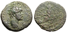 """Ancient Coins - Antoninus Pius AE22 """"Radiate Bust & Tyche Seated"""" Cilicia Anazarbus Scarce"""