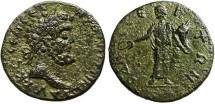 "Ancient Coins - Septimius Severus AE26 ""Serapis"" Thrace Odessos VF"