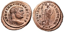 """Ancient Coins - Constantius I Chlorus Follis """"Africa Standing"""" Carthage Mint 298 AD RIC 24a EF"""
