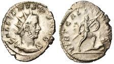 "Ancient Coins - Gallienus Silver Antoninianus ""VIRT GALLIENI AVG Trampling Enemy"" Cologne VF"