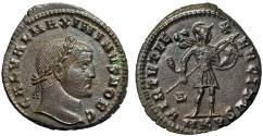 "Ancient Coins - Galerius AE Follis ""Mars Walking, Spear & Trophy"" Cyzicus RIC 49 Scarce EF"