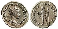 "Ancient Coins - Numerian Silvered Antoninianus ""PRINCIPI IVVENTVT Princeps, C"" Lyons RIC 356 nEF"