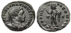 "Ancient Coins - Constantine I The Great AE Follis ""Sol With Globe"" London Mint 310 AD RIC 122 EF"