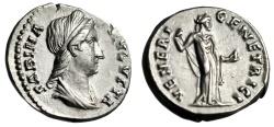 "Ancient Coins - Sabina (Wife of Hadrian) AR Denarius ""VENERI GENETRICI Venus"" RIC 396 Choice EF"