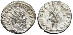 """Ancient Coins - Postumus AR Antoninianus """"SAECVLI FELICITAS Spear & Globe"""" RIC 325 VF"""