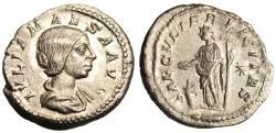"Ancient Coins - Julia Maesa Silver AR Denarius ""SAECVLI FELICITAS"" RIC 271 Rome About EF"