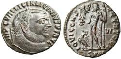 """Ancient Coins - Licinius I AE Follis """"Jupiter; SKM exergue (sic)"""" Cyzicus RIC 6 EF"""