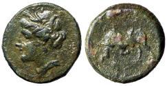 "Ancient Coins - Agathokles, Tyrant of Syracuse AE Litra ""Kore Persephone & Bull"" Sicily"