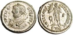 """Ancient Coins - Licinius I Silvered AE3 """"Jupiter"""" Cyzicus RIC 9 VF Fifth Consulate 318 AD"""