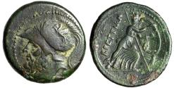 "Ancient Coins - Bruttium, The Brettii AE Double Didrachm ""Helmeted Ares & Athena & Owl"" VF"