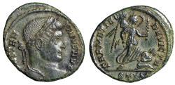 "Ancient Coins - Constantine I The Great ""SARMATIA DEVICTA Victory, Captive"" Trier RIC 435 gVF"