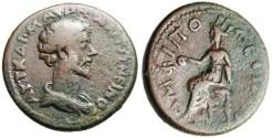 "Ancient Coins - Marcus Aurelius Caesar AE24 ""Goddess Seated"" Macedonia Amphipolis Scarce"