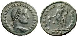 """Ancient Coins - Maximinus II Follis """"GENIO IMPERATORIS Genius, Star"""" Heraclea RIC 49a Scarce"""