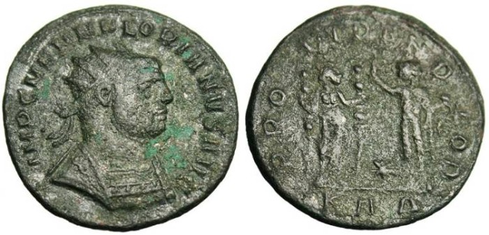 "Ancient Coins - Florian, AE Ant. ""PROVIDEN DEOR"" Serdica RIC 111 nVF"