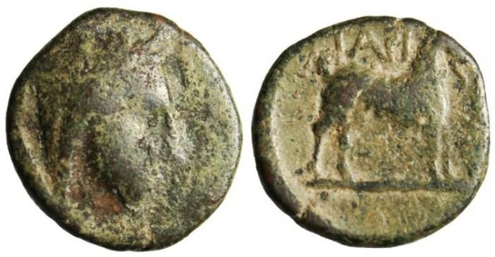 """Ancient Coins - Cyclades (Aegean Islands) Paros AE 17 """"Demeter & Goat"""" Rare"""