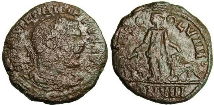 """Ancient Coins - Philip I, AE Sestertius """"Moesia Between Lion & Bull"""" Moesia, Viminacium ANVIII"""