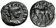 "Ancient Coins - Troas, Alexandria Autonomous AE20 ""Turreted Tyche & Horse"" BMC 50"