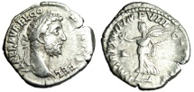 "Ancient Coins - Commodus Silver Denarius ""Victory Walking"" Rome 191-192AD RIC 237 Scarce VF"