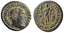"Ancient Coins - Licinius AE Follis ""IOVI CONSERVATORI Jupiter, Wreath"" Alexandria RIC 18 Scarce"