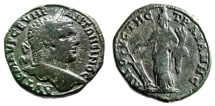 "Ancient Coins - Caracalla AE29 ""Turreted Tyche, Cornucopiae & Rudder"" Thrace Augusta Traiana"