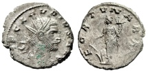 "Ancient Coins - Claudius II Gothicus Silvered Antoninianus ""FORTVNA RED Fortuna"" Choice EF"