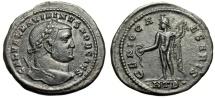 """Ancient Coins - Maximinus II Daia Follis """"GENIO CAESARIS Genius of Caesar"""" Heraclea Nice VF"""