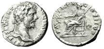 "Ancient Coins - Septimius Severus Budget Silver Denarius ""Pax Seated, Peace"" Rome RIC 88a nVF"