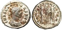 """Ancient Coins - Florian Silvered Ant. """"CONCORDIA MILITVM, V in Ex"""" Cyzicus RIC 116"""