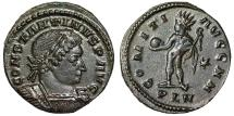 "Ancient Coins - Constantine I Great Follis ""COMITI AVGG NN Sol, Whip"" London RIC 169 Scarce EF"