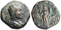 "Ancient Coins - Trajan Decius AE Double Sestertius ""Felicitas With Caduceus"" Rome RIC 115a Rare"