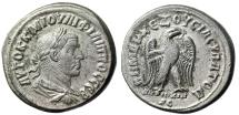"Ancient Coins - Philip I AR Tetradrachm ""Eagle Standing Right"" Seleucis and Pieria, Antioch VF"