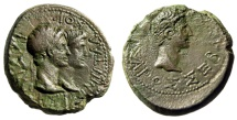 "Ancient Coins - Augustus & Rhoemetalkes I of Thrace ""Conjoined Bust With Queen Pythodoris"" gVF"