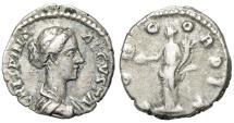 "Ancient Coins - Crispina (Wife of Commodus) AR Denarius ""Concordia Standing"" RIC 278"