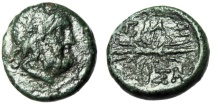 "Ancient Coins - Macedonia, Pella AE15 ""Zeus & Winged Thunderbolt"" Circa 187-131 BC Scarce"