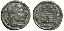 """Ancient Coins - Constantine I The Great AE20 """"PROVIDENTIAE AVGG Campgate"""" Nicomedia RIC 90 nEF"""