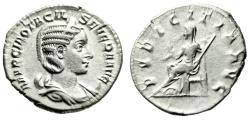 "Ancient Coins - Otacilia Severa Silver Antoninianus ""Pudicitia Seated, , Veiled"" RIC 123c gVF"