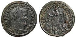 """Ancient Coins - Diocletian AE Follis """"Moneta, Crescent to left"""" Aquileia RIC 39a Very Rare"""