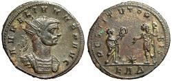 """Ancient Coins - Aurelian AE Antoninianus """"RESTITVT ORBIS Orient With Wreath"""" Serdica RIC 298 nEF"""