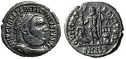 """Ancient Coins - Licinius I AE Radiate """"IOVI CONSERVATORI Jupiter, Eagle"""" Alexandria RIC 28 gVF"""