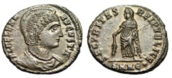 "Ancient Coins - Helena (Mother, Constantine I) ""Securitas"" Heraclea RIC 85 Good EF Exceptional"