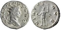 "Ancient Coins - Gallienus AR Antoninianus ""VIRTVS AVG Mars, Globe & Spear"" Rome RIC 317 VF"